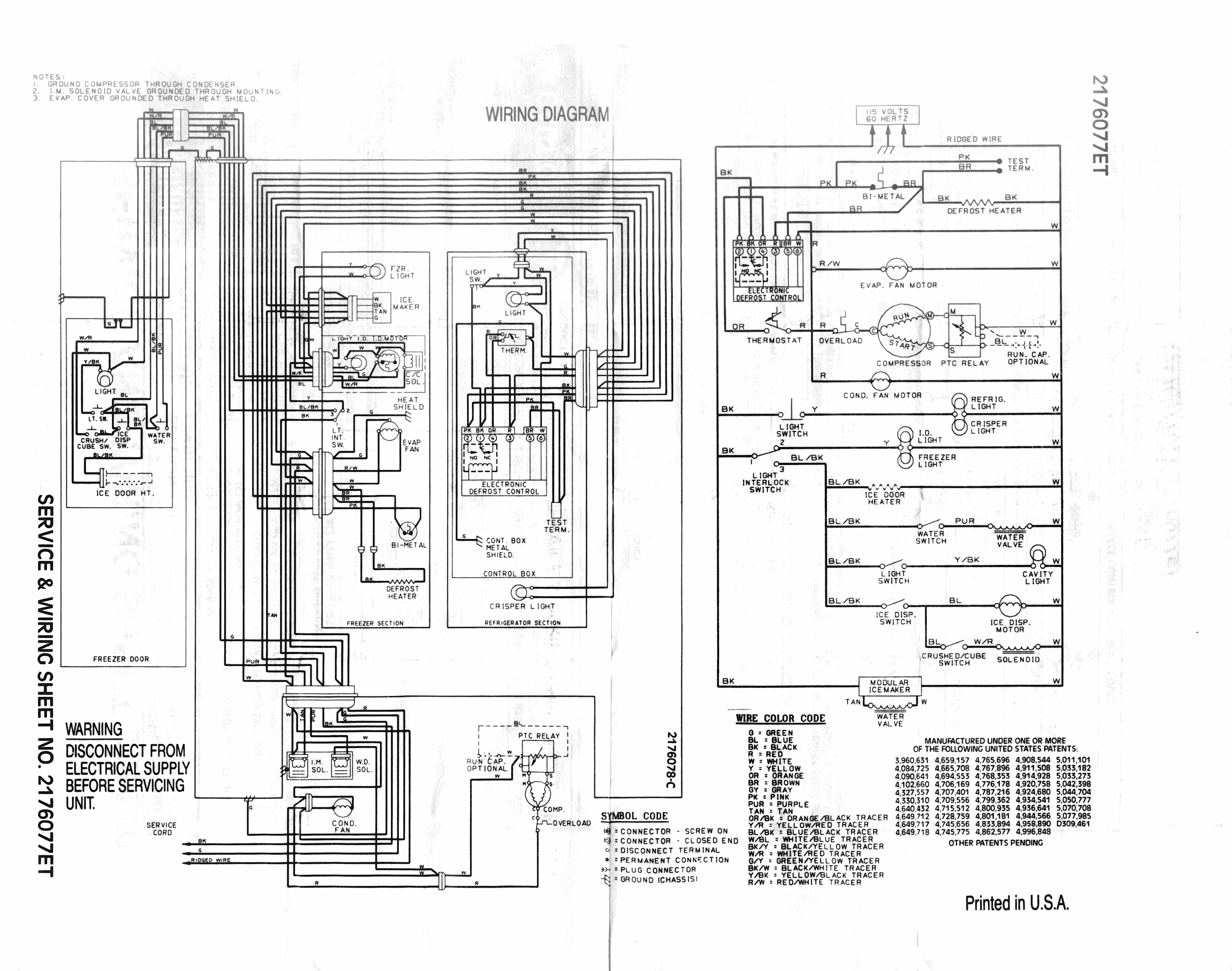 Fridge Schematics  Wiring Diagram
